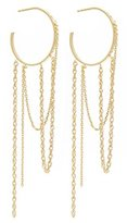 Wouters & Hendrix Wouters and Hendrix Yellow Gold Plated Sterling Silver Hoop Earrings With Chains