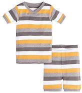 Baby Tri Color Stripe Organic Cotton Short Sleeve Pajamas