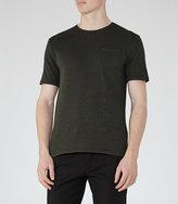 Reiss Wallace Jacquard Weave T-Shirt