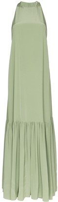 Tibi Sleeveless Flared Maxi Dress