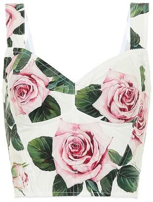 Dolce & Gabbana Floral cady bustier