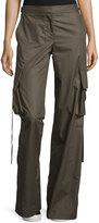 Helmut Lang Cotton Mid-Rise Cargo Pants, Brown