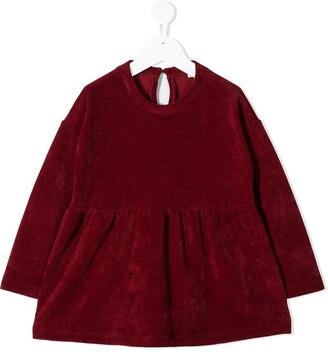 Piccola Ludo Velvet Long Sleeve Dress