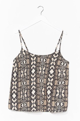 Nasty Gal Womens Snake It Count Relaxed Cami Top - Stone