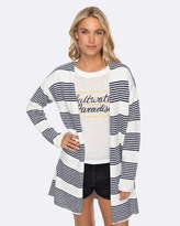 Roxy Womens Marble Landscape Bold Stripe Knit Cardigan