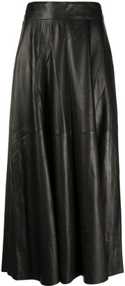 FEDERICA TOSI Full Shape Leather Skirt