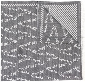 Versace Logo Silk Scarf