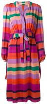 Etro stripe long sleeve dress - women - Silk - 46