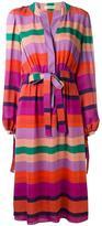Etro stripe long sleeve dress - women - Silk - 48