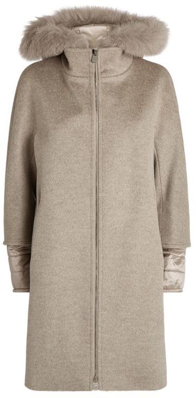 Cinzia Rocca Fur Trim Hooded Coat