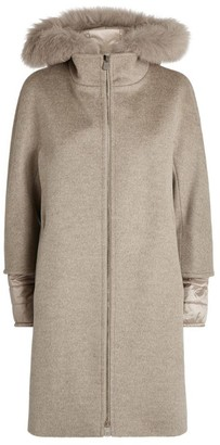 Cinzia Rocca Fur Trim Hooded Coat