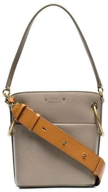 Chloé grey roy small leather bucket bag