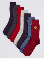 M&s Collection 7 Pairs of Cool & FreshfeetTM Embroidery Socks