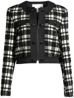 Escada Sport Barkli Wool-Blend Plaid Crop Jacket