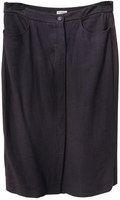 Hermes Burgundy Linen Skirt for Women Vintage