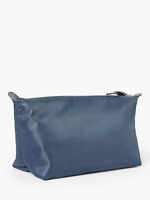 John Lewis & Partners Charlotte Large Makeup Bag, Blue