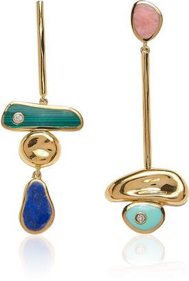 Pamela Love Pendulum 14K Gold-Plated Earrings