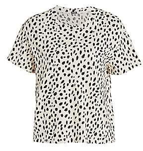 Monrow Women's Cheetah Print Crew T-Shirt