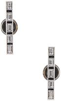 Ileana Makri Thread Baguette Stud Earrings