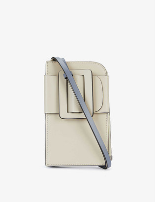 Boyy Buckle leather and suede phone cross-body bag