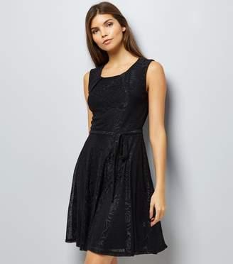 New Look Mela Floral Embossed Skater Dress