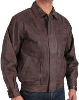 Brandslock Men's Merve Leather Bomber Jacket Casual Fitted Style S-5XL