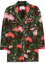 Erdem Ray Floral-print Silk-satin Blouse - Green