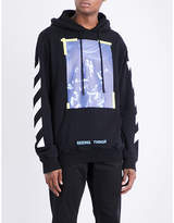 Off-White Caravaggio printed-patch cotton-jersey hoody