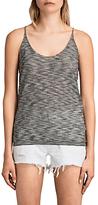 AllSaints Blyth Striped Vest Top, Black/White