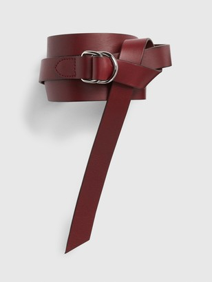 Gap Thin Harness-Buckle Leather Belt