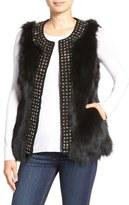 Jocelyn 'Stars' Studded Genuine Fox Fur Vest