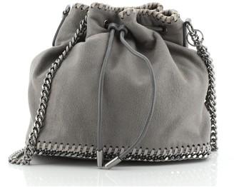 Stella McCartney Falabella Drawstring Bucket Bag Faux Suede Small