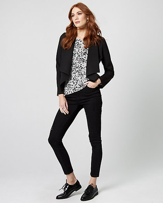Le Château Knit Crepe Waterfall Blazer