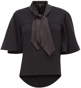 Ellery Adventure Fantastique Satin-scarf Crepe Blouse - Womens - Black