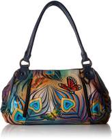 Anuschka Anna Handpainted Leather Ruched Large Satchel