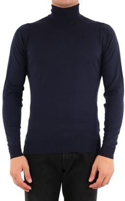 John Smedley Merino Wool Sweater Blue