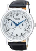 Citizen Men's Eco-Drive Black Leather Strap Watch 42mm AO9000-06B