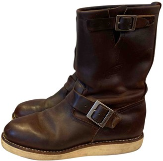 Red Wings Brown Leather Boots