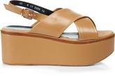 Robert Clergerie Flix leather flatform sandals