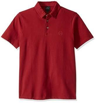 Armani Exchange A|X Men's Short Sleeve Plain Polo Shirt