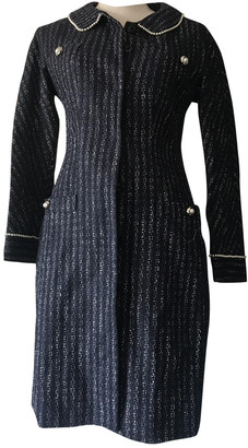 Moschino Navy Tweed Coats