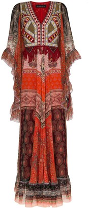 Etro Fringed paisley maxi dress