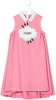 Fendi sleeveless dress - kids - Cotton/Spandex/Elastane - 3 yrs