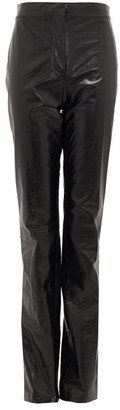 Acne Studios Leonna High-rise Leather Trousers - Black