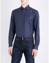 Ralph Lauren Purple Label Hopsack-weave Regular-fit Cotton Shirt