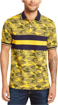 Club Room Men Regular-Fit Camouflage Colorblocked Stripe Polo Shirt