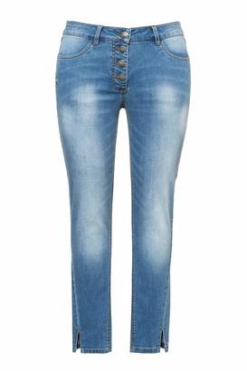 Ulla Popken Women's Damen Groe Groen Jeans mit Seitenschlitz am Saum Sarah