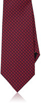 Ermenegildo Zegna Men's Silk Jacquard Necktie-RED