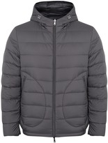 Herno Grey Reversible Quilted Shell Coat