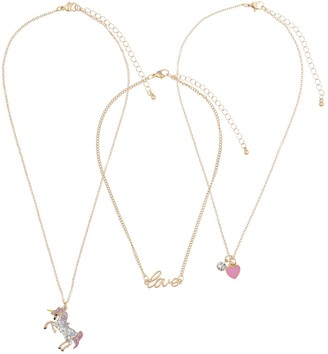 Girls Elli by Capelli 3-pack Layered Necklace Set
